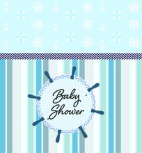 Nautical Icons - Baby Shower -...