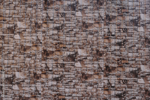 House wall element revetted with a natural stone. Canvas Print