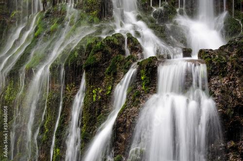 Green Waterfall Close-Up New Zealand Bush
