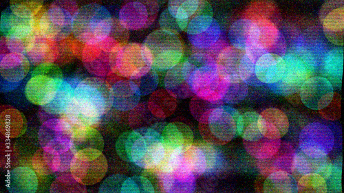 Colorful circles with bokeh background illustration
