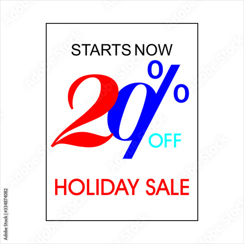 Photo Holiday Sale Banner, 20% OFF Special Offer Ad