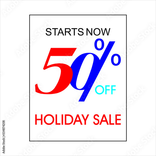 Photo Holiday Sale Banner, 50% OFF Special Offer Ad