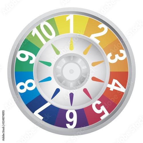 Fotografie, Obraz retro board game spinner in color
