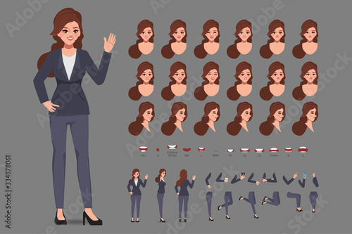 Fotografía Cartoon character with business woman in casual wear for animation