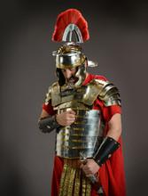 Roman Soldier In Actitude Of S...