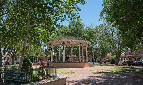 Photo gazebo in Old Town, Albuquerque, New Mexico