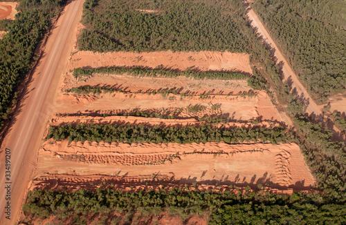 mining bauxite at Weipa in Cape York  Queensland, Australia. Canvas Print
