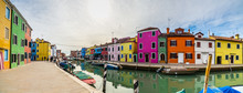 Panoramic View Of Colorful Hou...