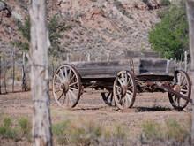 Old Harvesting Machine With Ru...