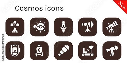 cosmos icon set
