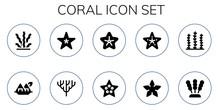 Coral Icon Set
