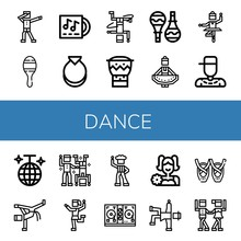 Set Of Dance Icons