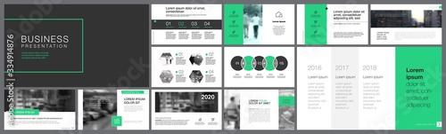 Valokuva Orange, white and black infographic design elements for presentation slide templates
