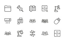 Simple Set Of Office Icons In ...