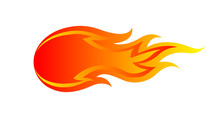 Fire Flame Isolated On White B...
