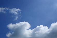 Cloud On Clear Blue Sky Backgr...