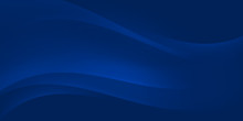 Blue Abstract Wave Background With Copy Space.