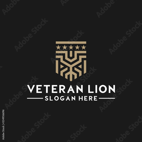 LION LOGO MINIMALIST MONOLINE MONOGRAM LINE STYLE Fototapete