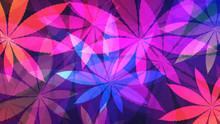 Cannabis Background. Vector Il...