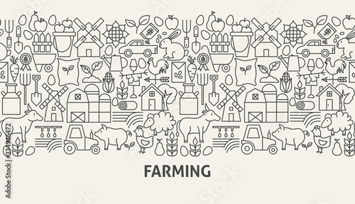 Fototapeta Farming Banner Concept obraz