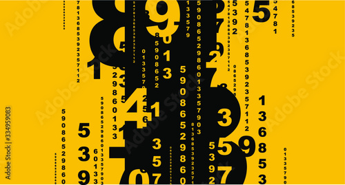 Obraz na plátně abstract background with numbers