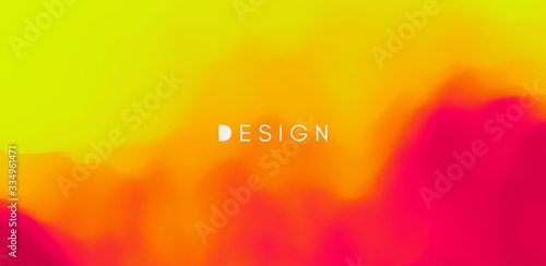 Fototapeta Abstract background with dynamic effect. Creative design poster with vibrant gradients. Vector Illustration for advertising, marketing, presentation. Mobile screen. obraz