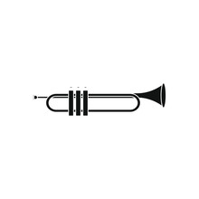 Trumpet Air Instrument On Whit...