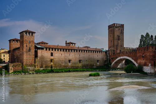 Photo View of Castelvecchio from other side of adige river
