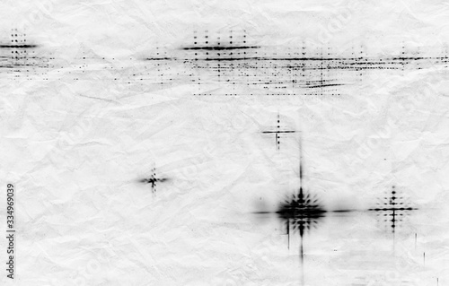 Fototapeta Abstract scientific background with black pattern