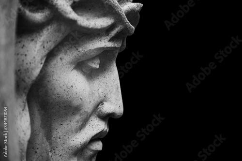 Obraz na plátně Close up Jesus Christ crown of thorns