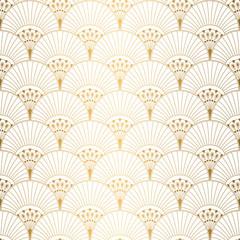 Fototapeta Art Deco Art Deco pattern. Seamless white and gold background. Wedding decoration
