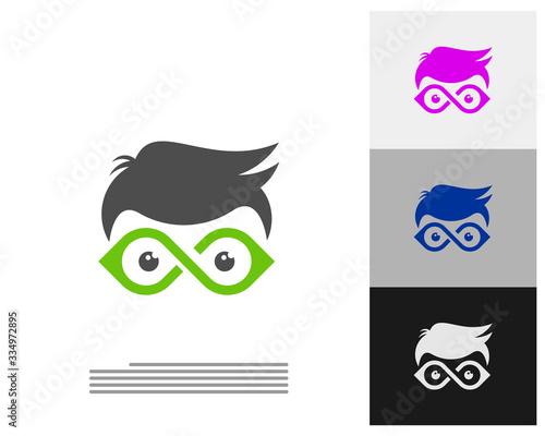 Geek Infinity logo vector template, Creative Geek logo design concept Wallpaper Mural