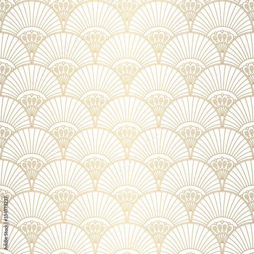 Tapeta do przedpokoju  art-deco-pattern-seamless-white-and-gold-background-wedding-decoration