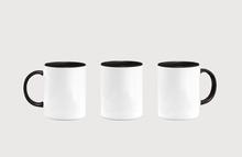 White Inside Black Mug Mockup Isolated On Grey Background