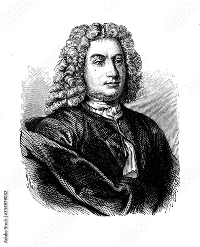 Portrait of Daniel Bernoulli (1700 -  1782) Swiss mathematician and physicist, well known for the principle with his name and his pioneering work in fluid mechanics Canvas Print