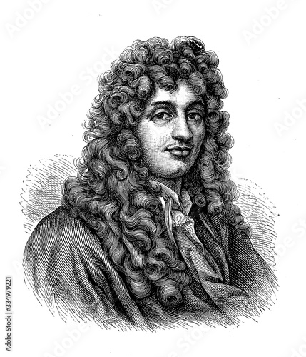 Photo Portrait of Christiaan Huygens (1629 - 1695) Dutch physicist, mathematician, ast