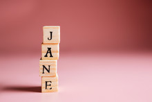 Name Jane Made Of Wooden Bloc...
