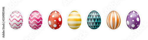Fototapeta Colorful Easter Eggs vector graphic obraz