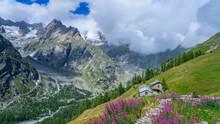 Hiking In Tour Du Mont Blanc, Switzerland, Italy & France.