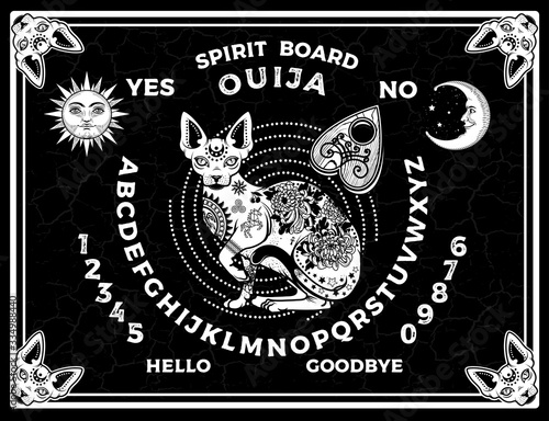 Obraz na plátně Ouija Boards. Occultism Set. Voices from the Other World.