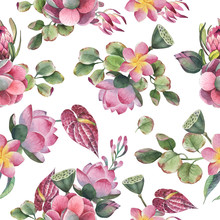 Watercolor Seamless Pattern, B...