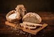 Leinwandbild Motiv Rustic loaf of bread