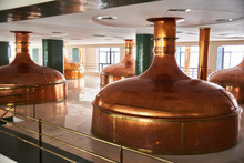 Copper Brewing Tank In Old Brewhouse