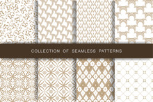 8 Seamless Patterns Set. Vecto...