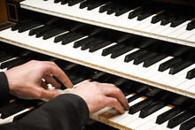 Close-up Male Musician Hands P...
