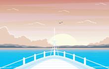 Sunset Sunrise Sea Ocean Lands...