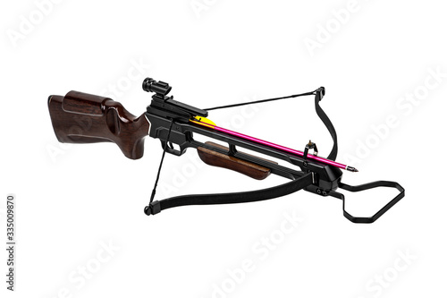 Crossbow isolate on white back Tableau sur Toile