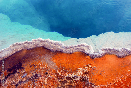 Fotografie, Obraz Closeup of colorful Geothermal Hot Springs in Yellowstone National Park