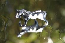 Grey Marble Precious Horse Miniature Figurine