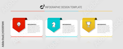 Fotografie, Tablou Infographic design template. Creative concept with 3 steps